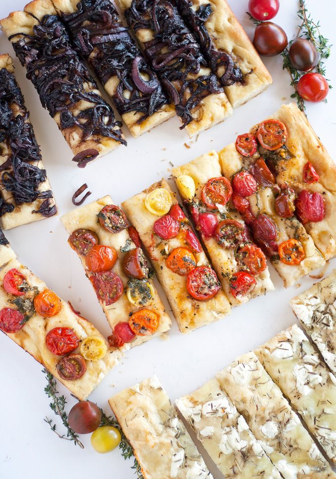 balsamic onion, heirloom tomato and three cheese focaccia | ahappyfooddance.com