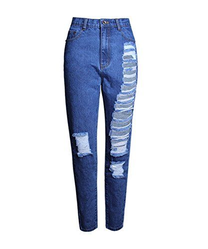 Special Offer: $31.99 amazon.com Echoine Women's Loos Fit Destroyed Ripped Straight Jeans Washed Cuff Denim Trousers High quality! PLEASE CONFIRM Sold by Mycherish. 1. Unique seamless details will enhance the stomach,hip,bottom and abdomen area.It's comfortable to wear and...