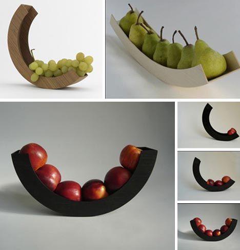 An apple a day. Fruit (Bowl) Loops: 8 Circular Wood, Glass & Metal Designs