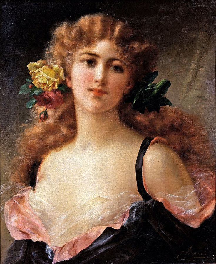 The Athenaeum - Portrait of a Young Girl (Emile Vernon - )