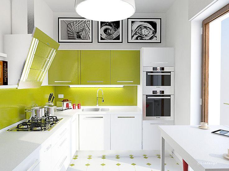 17 migliori idee su arredamento cucina color verde su - Cucina verde acido ...