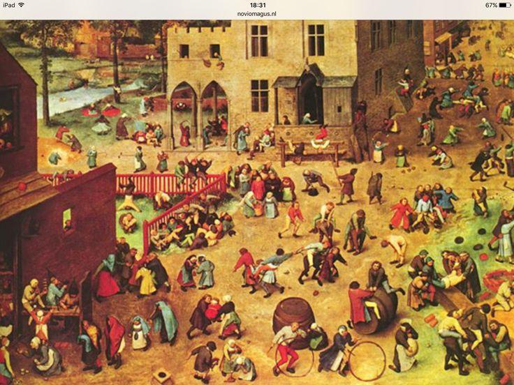Spelletjes van vroeger van Brueghel