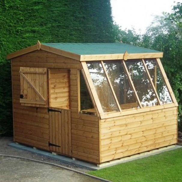 Dog House Potting Shed Combo Google Search Shedplans Domace