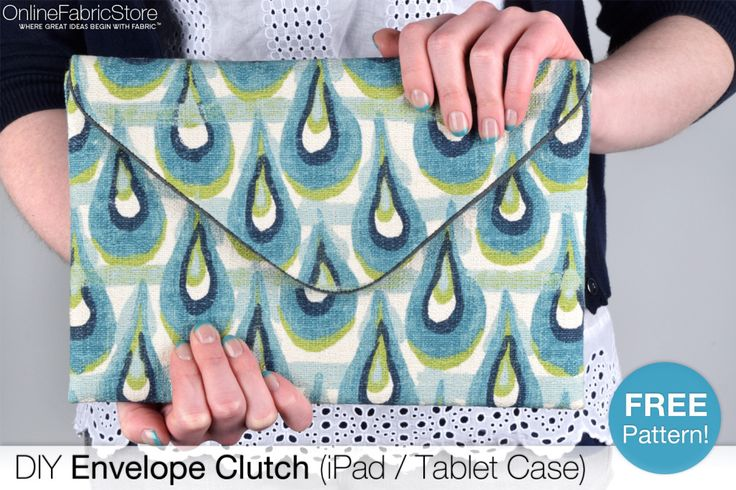 DIY Envelope Clutch (iPad / Tablet Case) Tutorial