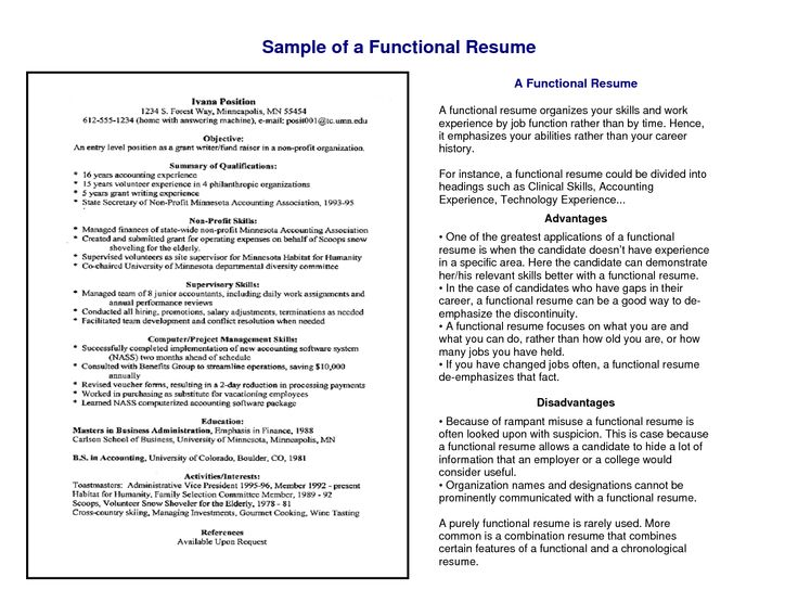 Chrono Functional Resume Template Functional Resume Format Sample