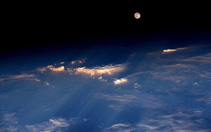 Strawberry Moon seen from Space Station