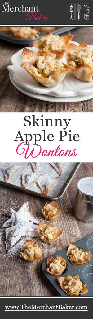 Skinny Apple Pie Won Tons. Two ways to make a delicious guilt free treat, one under 65 calories, the other under 35!