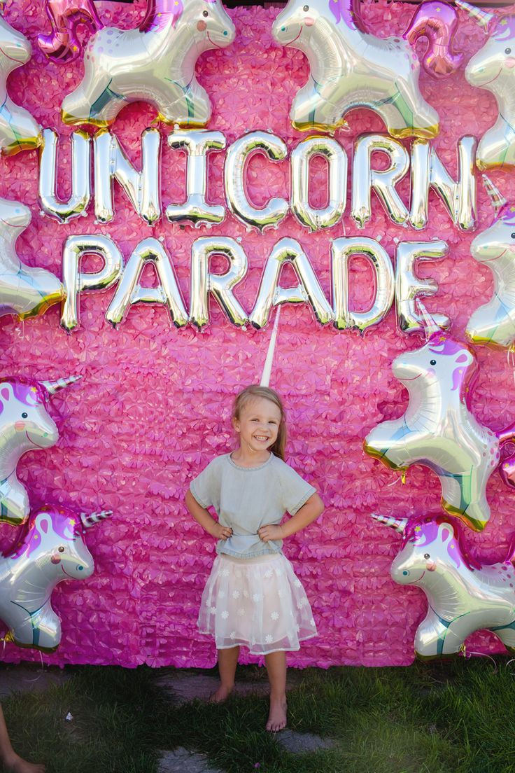 How cute is this unicorn parade themed birthday party?