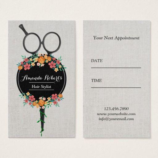 The 322 best hair salon custom business cards 2017 images on hair stylist classy scissor flowers appointment colourmoves