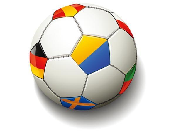 composto da bandiera calcio