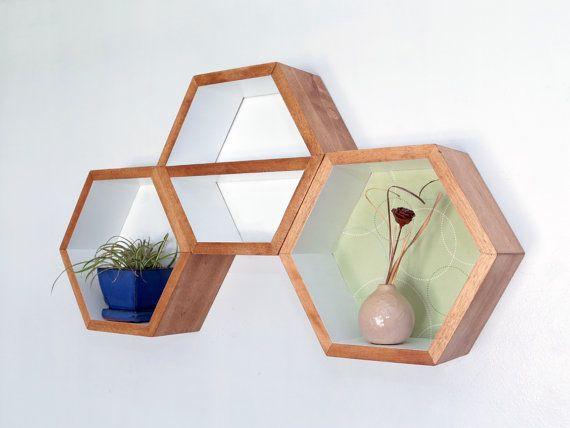 Geometric Shelf  Shelves  Shelving  Hexagon by HaaseHandcraft