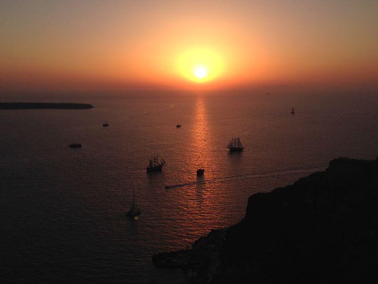Il tramonto visto da Oia
