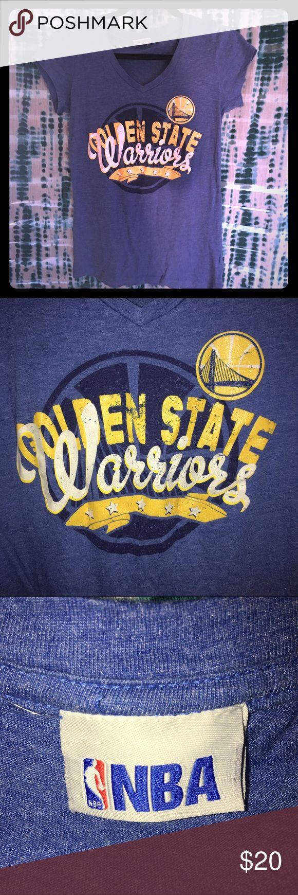 NBA🏀GSW Tee EUC Official NBA Golden State Warriors tee.Worn once. Purchased in Oracle Stadium. 50/50 cotton/poly. No stains or tears. Non smoking home. Washed cold hung dry. NBA Tops Tees - Short Sleeve