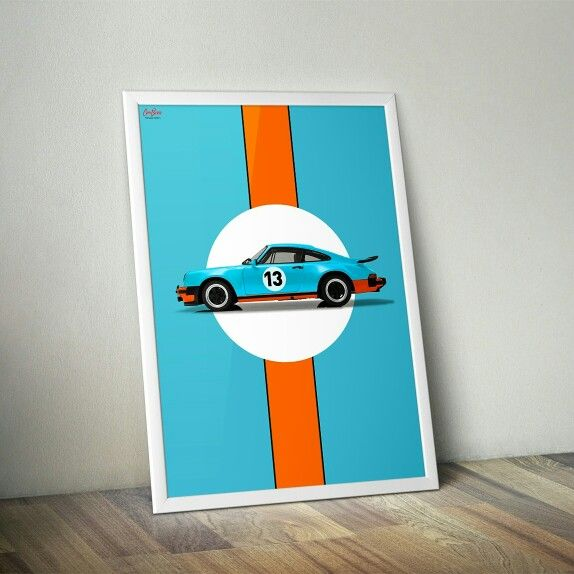 Porsche 911 930 Gulf livery pack poster from Car Bone Liveries.