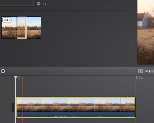 Video schneiden in iMovie