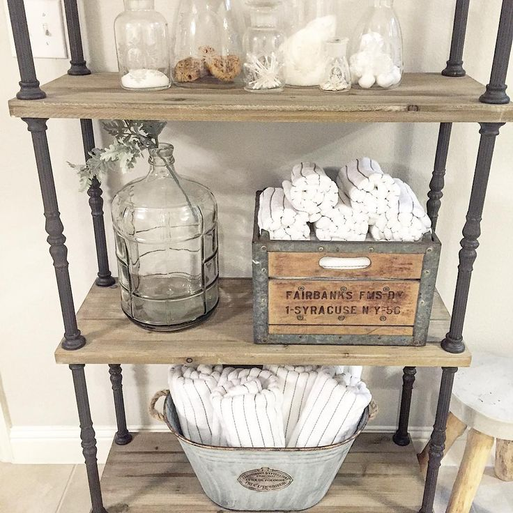 Loving how WhimsyGirlDesign used our Found Milk Crate to store those towels. Simply beautiful! #decoratingideas #homedecor