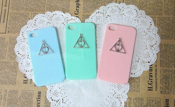 8 color choices, Deathly Hallows iphone 4 4s 5 case,Silver Deathly Hallows iphone 4 case, Harry Potter iphone 5 Case, Lime cases on Etsy, $8.99