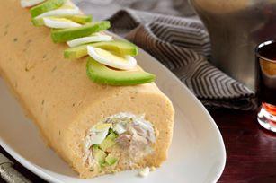 Tuna-Stuffed Potato Roll