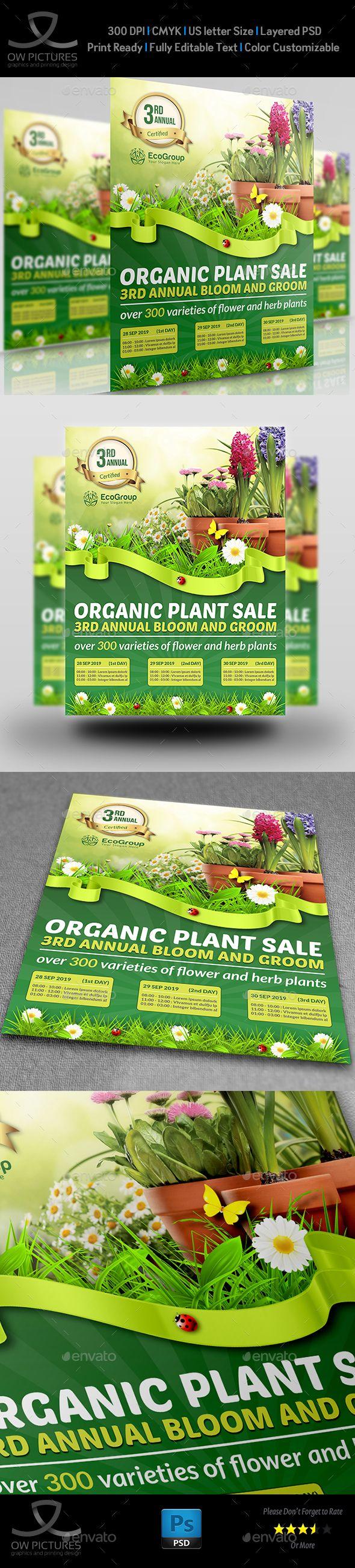 Plant Sale Show Flyer Template