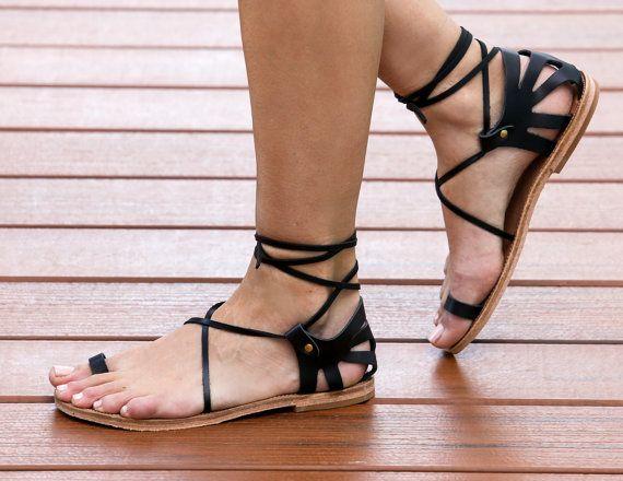 Lace Crète féminines Up sandales sandales par TheMerakiCompany