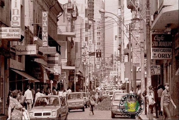 Campinas 1980 Rua Barão de Jaguára
