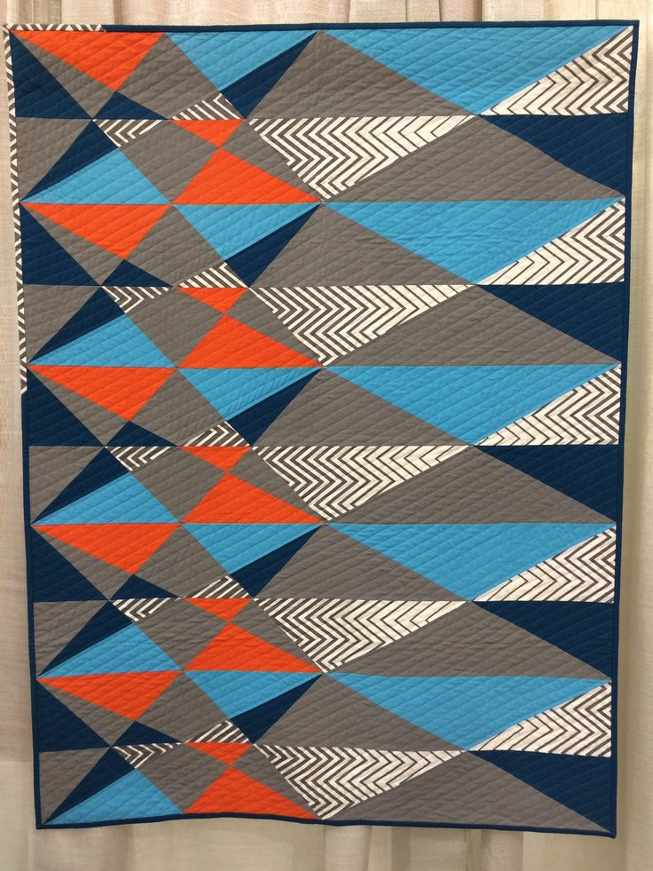 Zig Zag Quilt Pattern No Triangles : 17 Best images about zig zag & chevron :quilts & inspiration. on Pinterest Triangle quilts ...