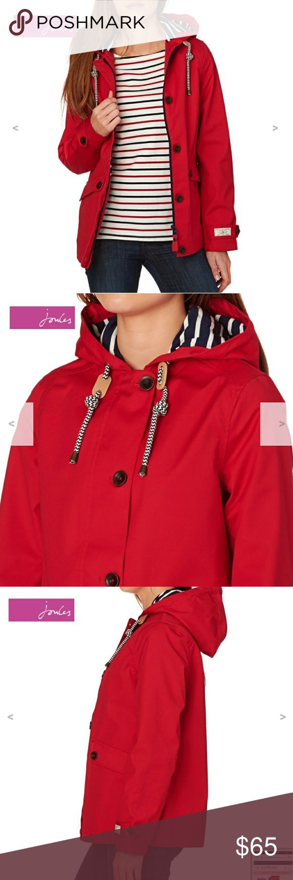 Joules Red Raincoat M/8 Worn once, like new Joules Jackets & Coats
