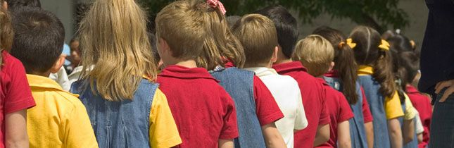 School Uniform Debate  School routines are in full swing, and the debate over uniforms rages again. In many developed nations (and developing nations), children are required to wear uniforms, such as Great Britain and Venezuela. Is this just another painful example of the United States falling behind the 8-ball in school standards? Or, rather, does it hold true to the value Americans place on individuality? We've got two veteran administrators reporting their positions from the field. Read…