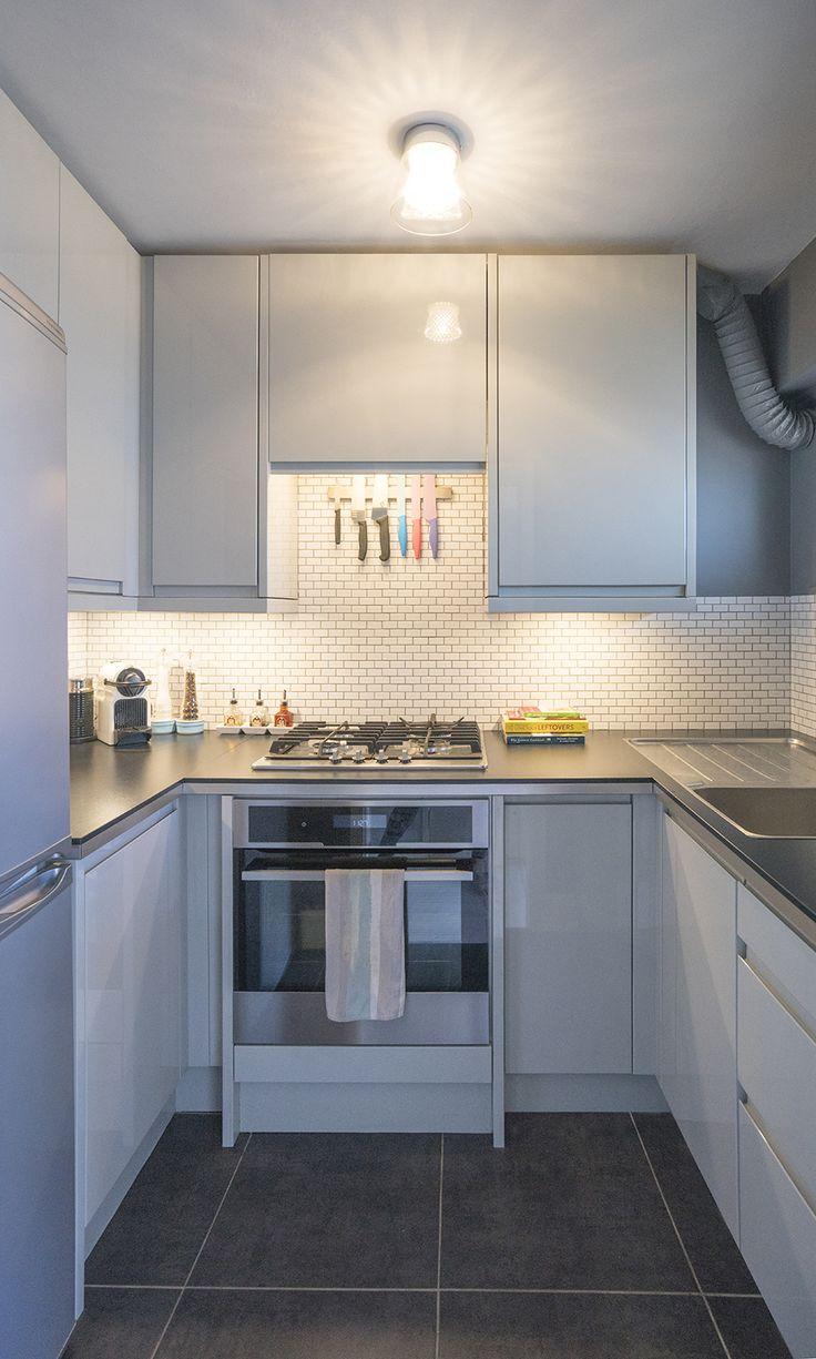 Architect / Interior Designer: Orfali & Orfali  Details: Compact kitchen, Scandinavian design, mosaic wall tiles, grey palette, interior design, architecture