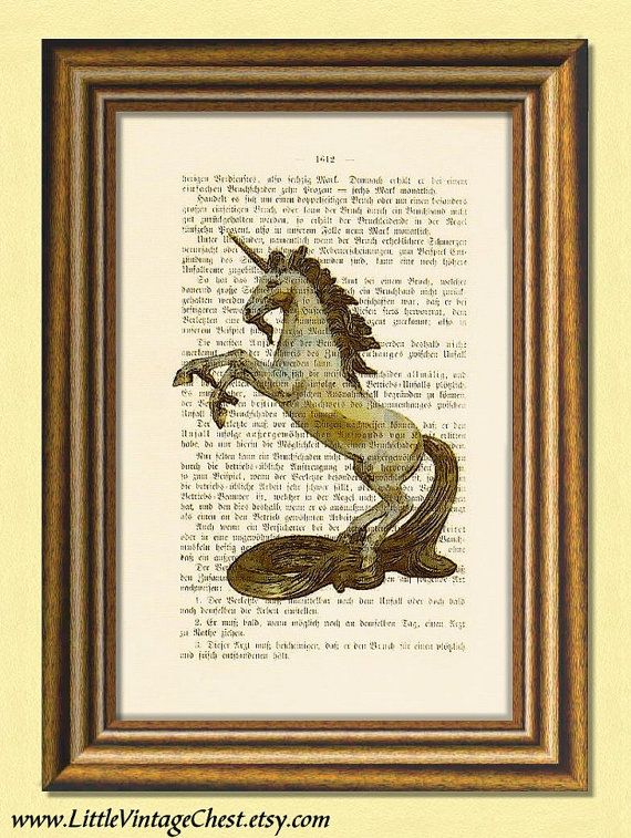 THE LAST UNICORN  Dictionary art Vintage art by littlevintagechest, $7.99