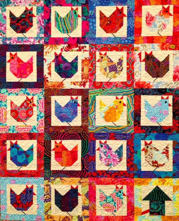 Hen Party Quilt Kit featuring Kaffe Fassett Fabrics by suppose, $84.99