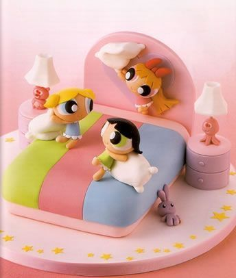 Powerpuff Girls Cake; somebody make me this. Right now. Seriously.