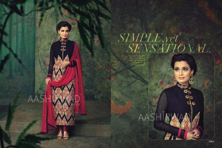 """Dia Mirza Designer SImple Yet Sensational Salwar Kameez"" Awesome post by Glamzon #fashion"