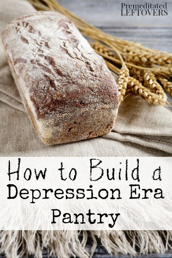 How to Build a Depression Era Pantry- Go back to basics with these frugal depression era tips. You will save money and stock your pantry with whole foods. These life hacks are both frugal, healthy, and practical.