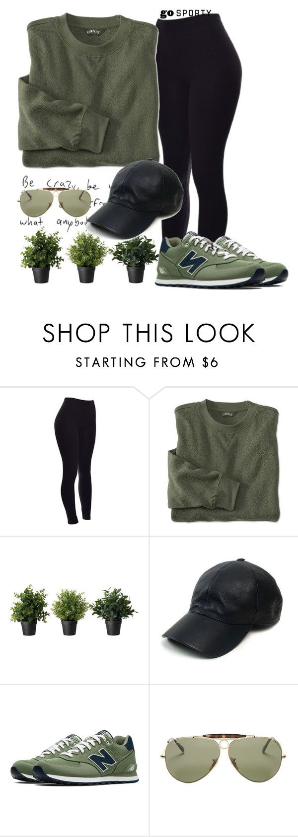 #sportystyle by ana-anny-blagojevic ❤ liked on Polyvore featuring Vianel, New Balance, Ray-Ban and sportystyle