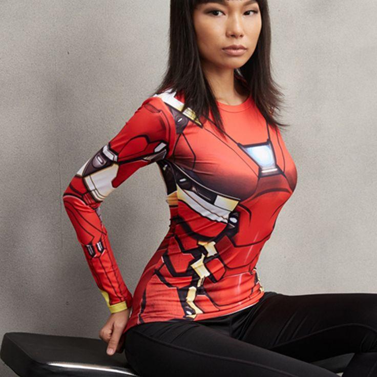 Iron Man MK46 Compression Longsleeve //Price: $25.00 & FREE Shipping //     #batman #deadpool #marvelc #dc