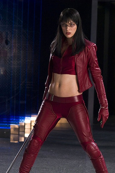 """From the movie """"Ultraviolet"""", Milla Jovovich. I love her red leather outfit. This is also one of my favorite movie characters of all time. I really want a jacket like this."""