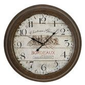 "Found it at Wayfair - Urban Oversized 23"" Chateau Grand Weathered Vintage Classic Wall Clock"