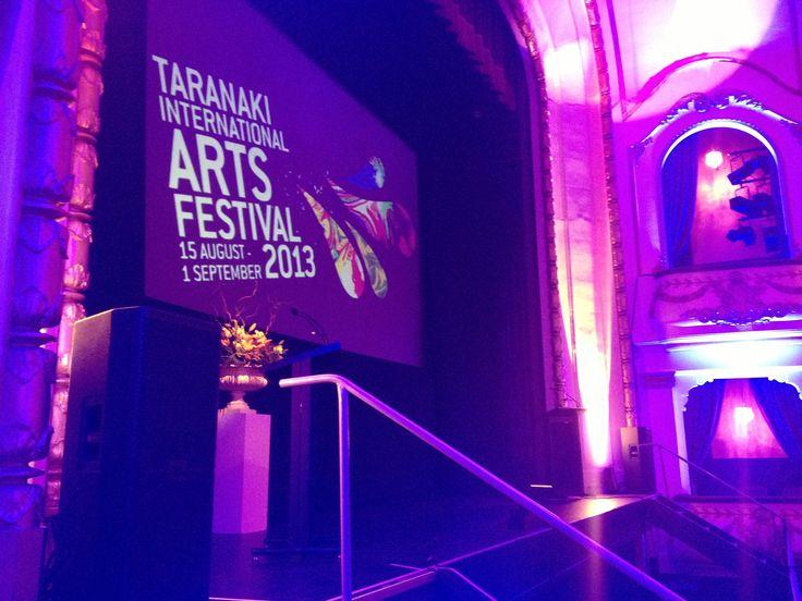 Launching the Taranaki International Arts Festival