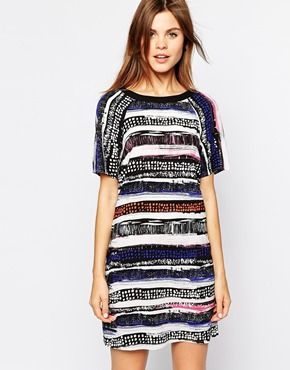 Warehouse Stripe T-Shirt Dress