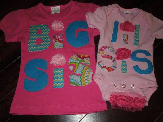 Sibling set big sis lil sis set big sis shirt lil by Ooopsiebaby, $51.50