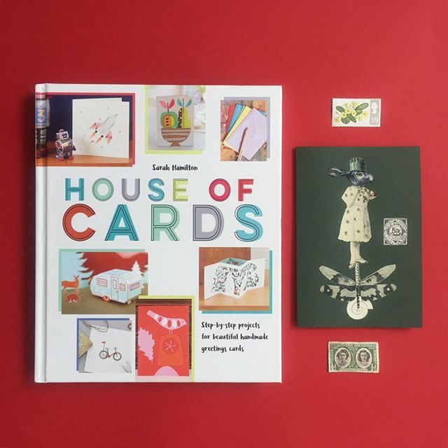 SPECIAL OFFER ALERT: if you book a place on one of my full-day @obbyuk classes in March I will give you a copy of House of Cards by Sarah Hamilton worth 14.99. This is a beautiful book full of inspiration and advice about card-making as well as ten exciting projects from artists and designers (I wrote the chapter on collage). How about learning decoupage on furniture this weekend (Sat 17 or Sun 18) or mixed media and collage on Sun 25? All you need to do is book your place no code required…