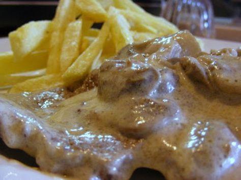 Receita Prato Principal : Bifes de vaca com molho de natas, mostarda e cogumelos de Catpernog