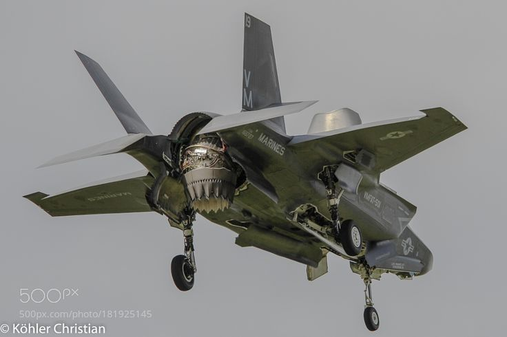 Farnborough 2016 - US Marines F- 35B by catseal with aircraftukairshowairplanemilitaryjetflyingfarnboroughUS MarinesF-35