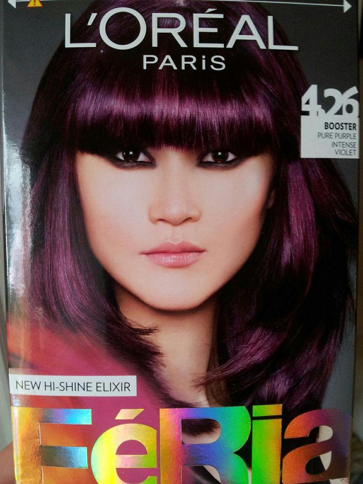 Loreal Purple Deep Purple Hair Dark Hair With