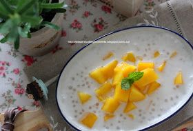 Jessie - CookingMoments: 芒果椰汁西米露 Chilled Mango Coconut Sago Dessert