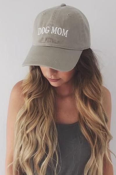 PREORDER: Dog Mom Hat: Taupe/White