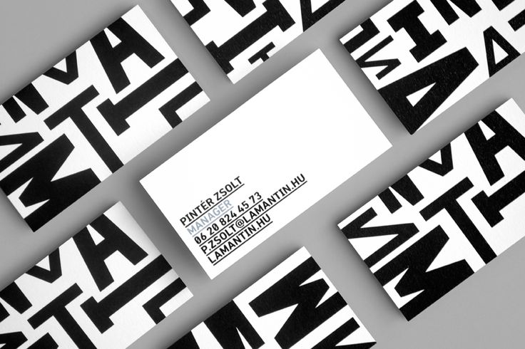 Brand Identity and business cards for Lamantin Jazz Festival designed by Hidden Characters.
