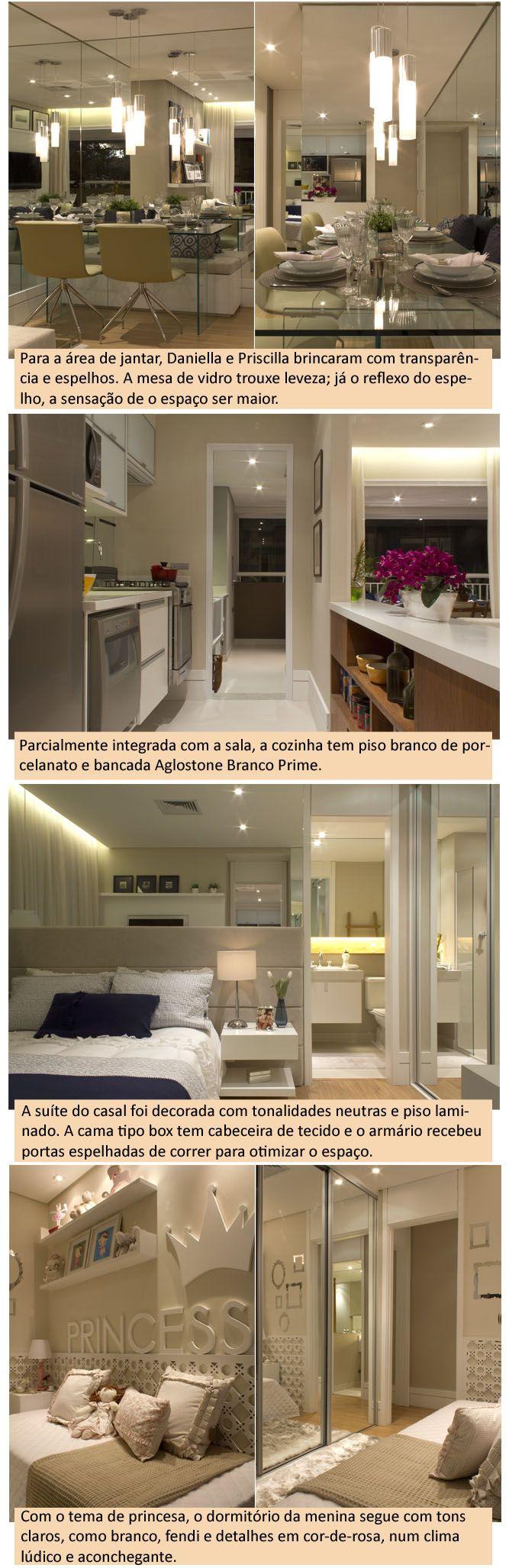 Cercado por vidros e espelhos, este apartamento de 68 m², decorado para um empreendimento imobiliário, é um bom exemplo de que é possível morar com estilo e conforto em pequenos espaços.O projeto …