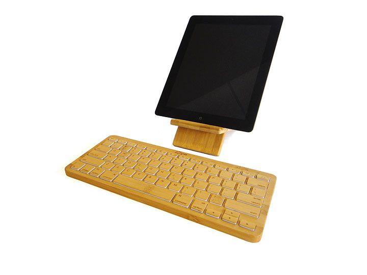 I found this on www.izenbamboo.com: Izen Ipad, Gadgets, Bluetooth Keyboard, Bamboo Keyboard, Products, Design